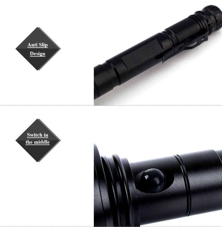 Bright Light Led Flashlight Aluminum Alloy Rechargeable Led Torch ...