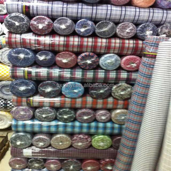 Tc Yarn Dyed Check Shirting Fabric Stocklot Fabric In China