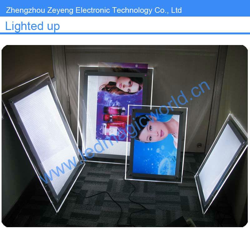 Led Leuchten Acryl Rahmenlose Bilderrahmen Mit Schraube - Buy Acryl ...