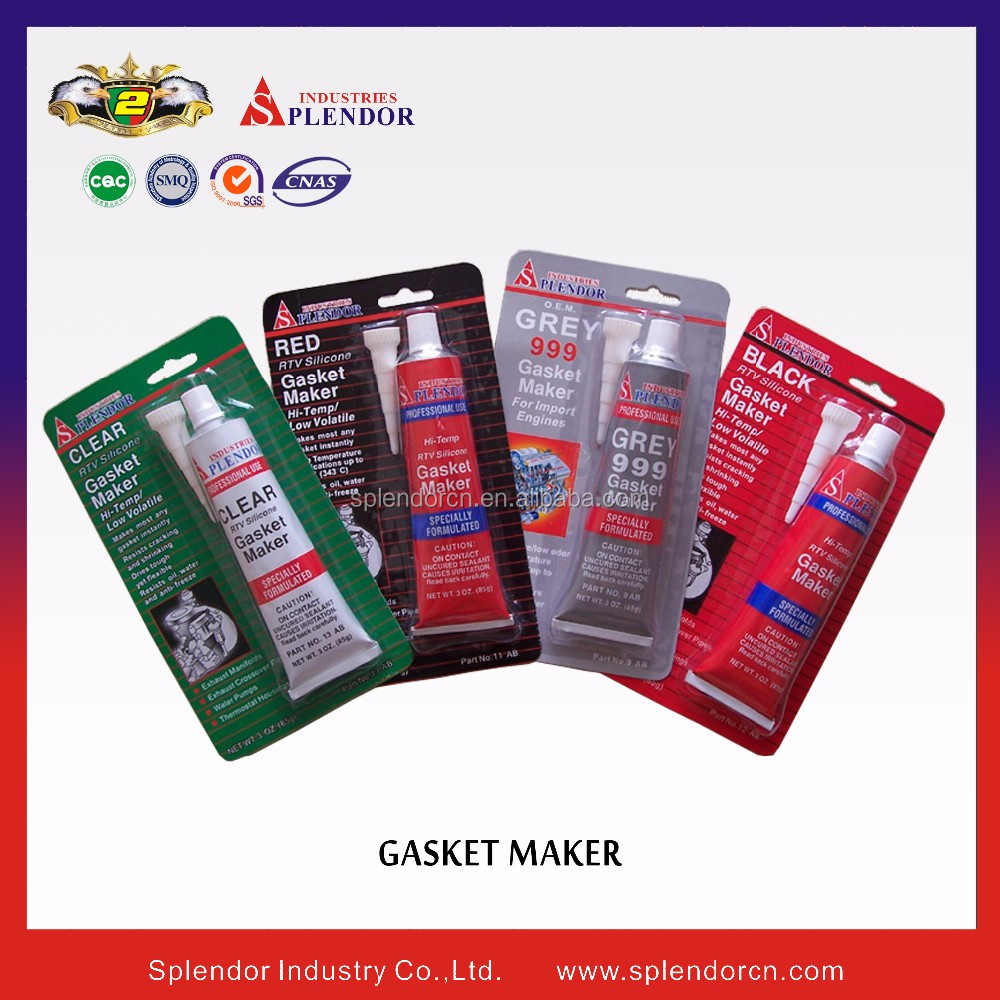 high-temp silicone gasket maker clear RTV gasket maker silicone/high-temp silicone gasket maker clear RTV