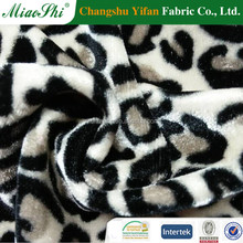 Four way stretch Leopard printed combed stretch velour fabric