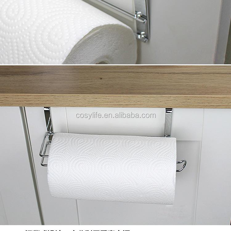 Kitchen Tissue Holder Hanging Bathroom Toilet Roll Paper Holder Towel Rack  Kitchen Towel Rack Roll Paper