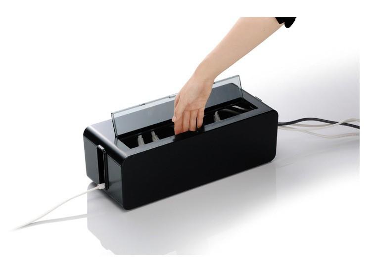 kabel organizer box smartstill ervaringen. Black Bedroom Furniture Sets. Home Design Ideas