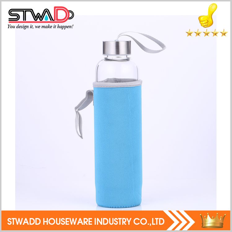Hot new best sell eco glass water single wall bottle