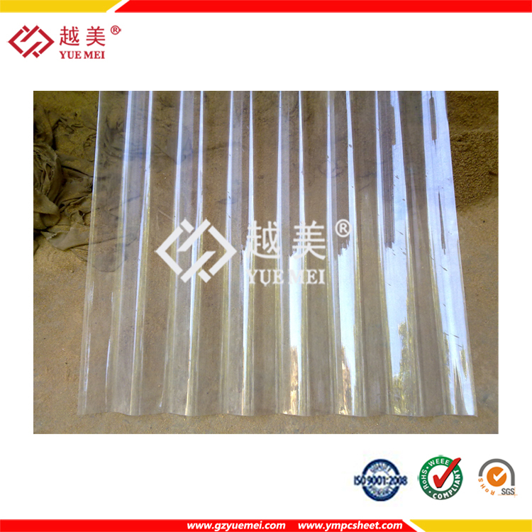 Building Material Plastic Polycarbonate Corrugated Sheet