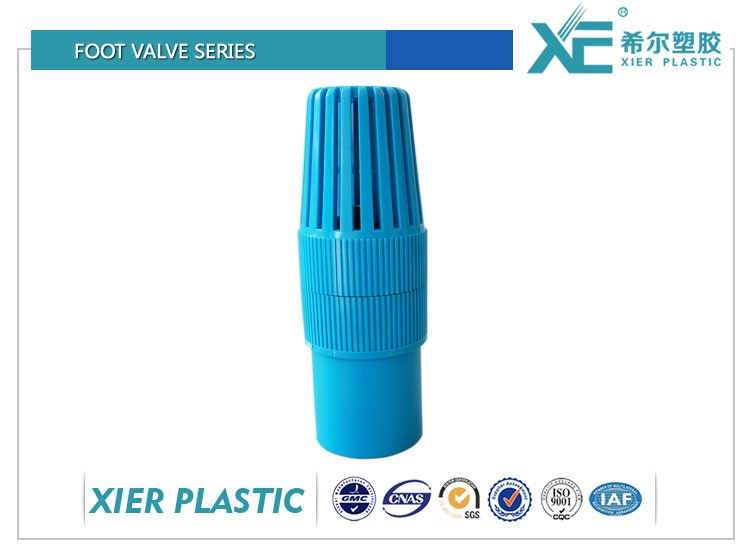 Good price plastic foot valve with strainer for water