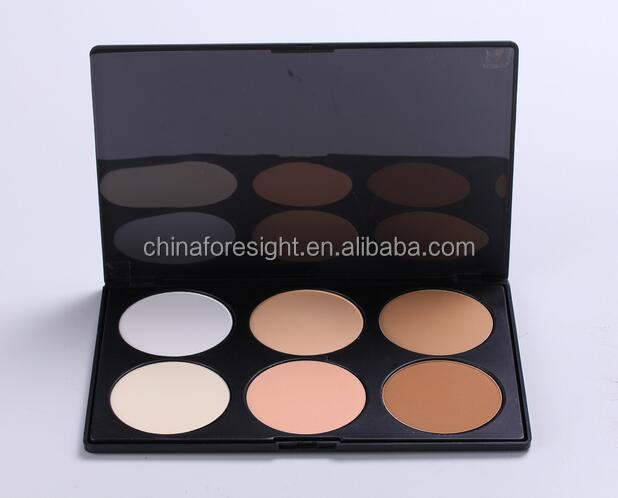 6 color Face Powders MINERAL for makeup beauty palette,mineral makeup contour palette