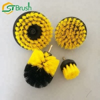 industrial electric wheel round rotating rotary circular disc disk boar nylon bristle power set drill brush