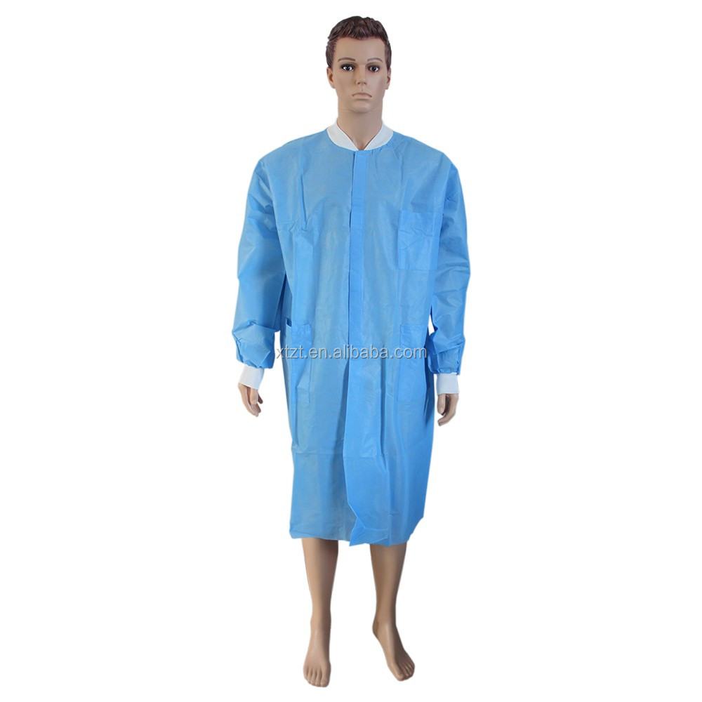 Sms Non Woven Visitor Gown Disposable Hospital Gowns For Visitors ...