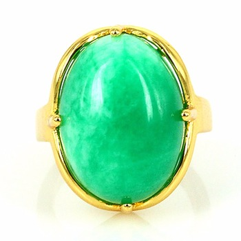 6e48bf618f610f 24kt Gold plated Turquoise Agate Oval Cabochon Single Stone Ring Designs