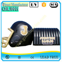 Customized giant Character entrance/exit/entryway helmet sport inflatable football tunnel