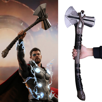 PU Toy Cosplay Weapons 1:1 Thor Axe Hammer 73cm Cosplay Weapons Movie Role Playing Thor Thunder Hammer Axe Stormbreaker Figure