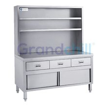 Restaurant Hotel Equipment Upright Stainless Steel Kitchen Cabinet With Sliding Doors