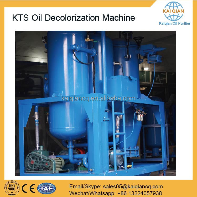Industrial Engine Oil Recycling Machine Black to Yellow Oil Decolorization