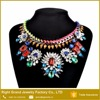 Beautiful Crystal Rhinestone Bib Necklace Handmade Weave Alloy Chunky Necklace