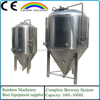 500L Cooled Stainless Conical Fermenter / Beer Fermentation Tank