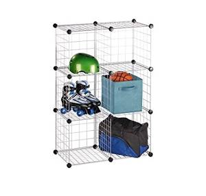 Get Quotations · Doaaler(TM) Honey Can Do Modular Mesh Storage Cube 6 Pack  Silver And Black