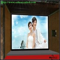 Indoor fixed P3 high definition LED display screen 300 - 1100 nits customized