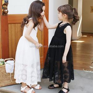2016 Latest Children Dress Designs Lace Children Maxi Dress Korean Clothes  Wholesale Children's Boutique Clothing