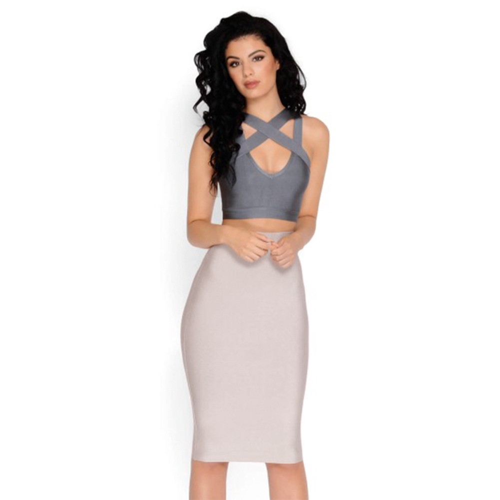 42961ace2e7 New Women Bandage Bodycon Dress Top And Skirt Bandage Set. Hot sale products
