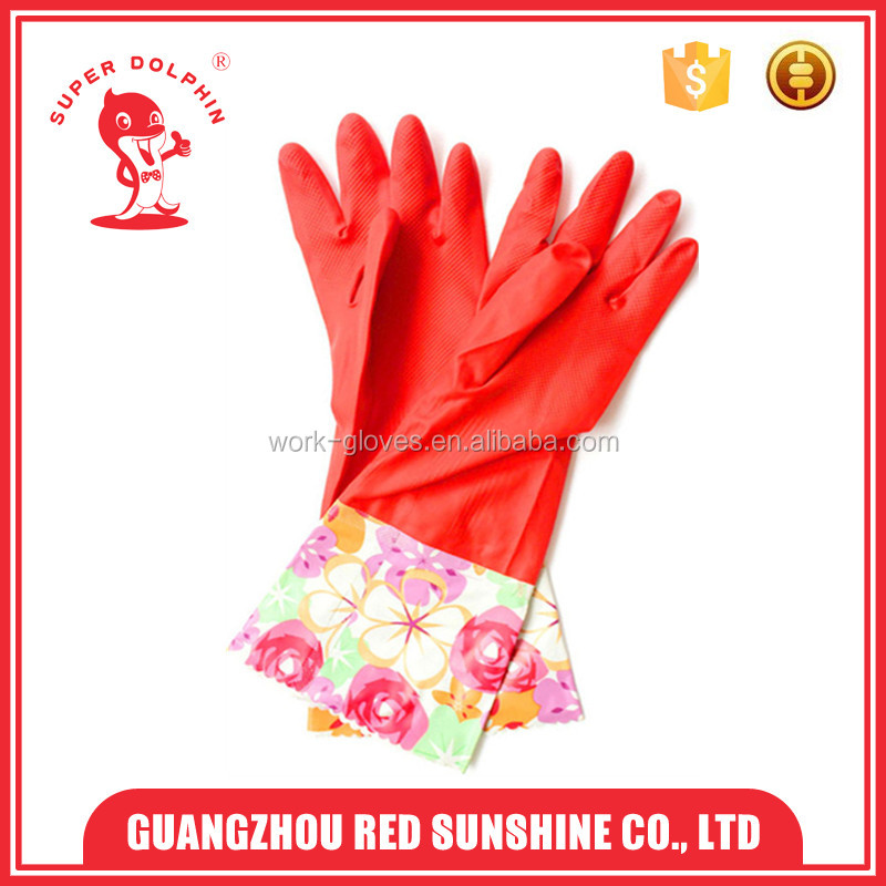 Cleaning warm winter household long cuff latex gloves