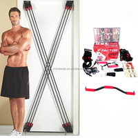 Home Gym Exerciser Body Slimming Muscle Building Doorway Fitness Resistance Ropes With Workout DVD