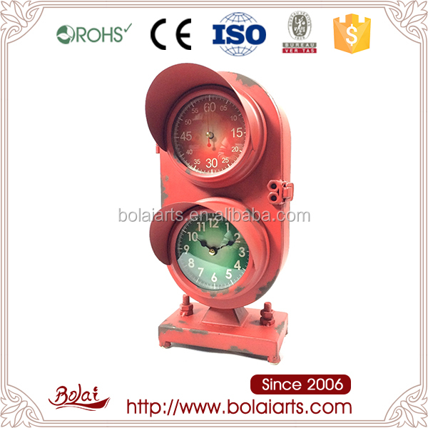 Low Cost House Decoration Traffic Light Clock Craft Wire Heart Shape ...