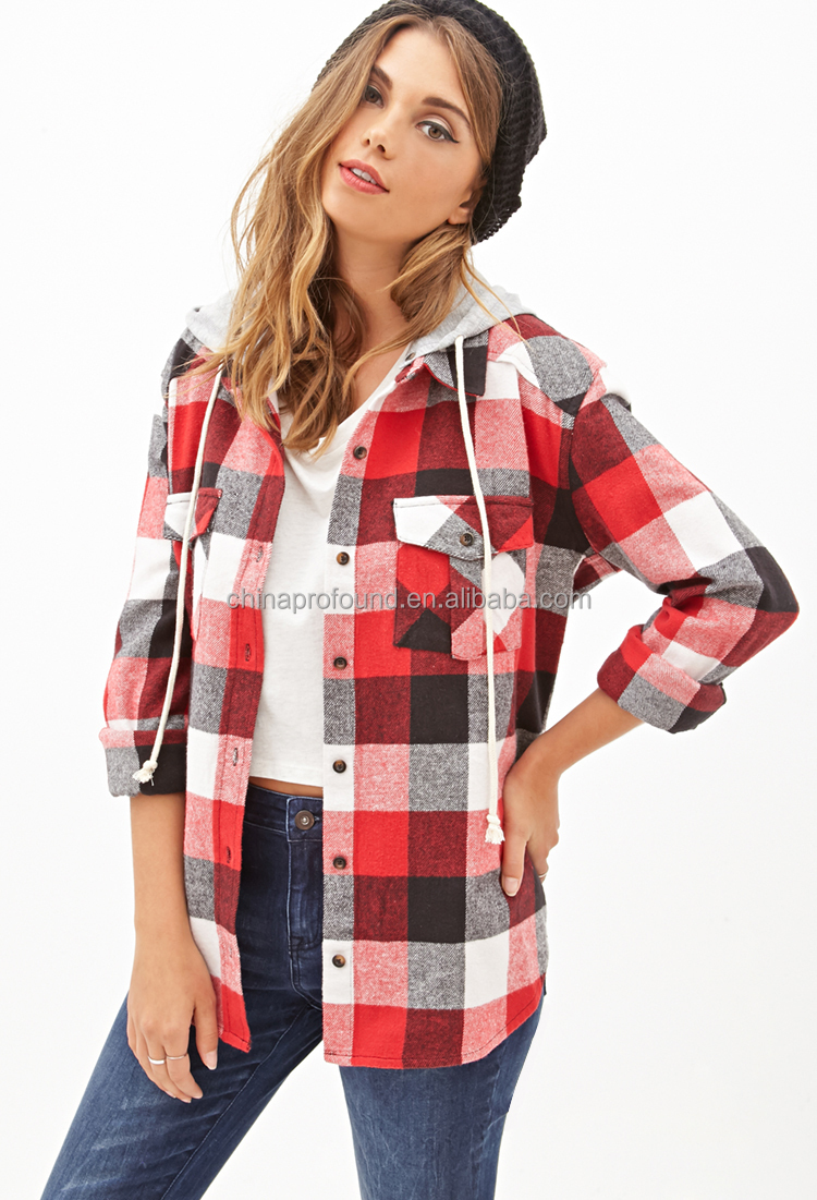Womens Red Flannel Shirts