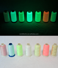 Lichtgevende borduurgaren, glow in the dark garen, 100% polyester borduurgaren