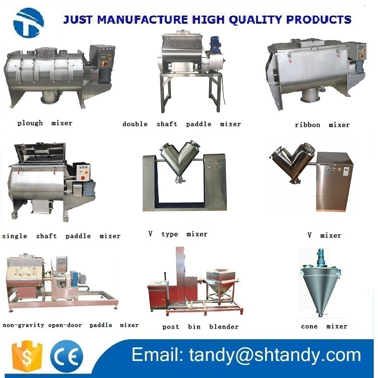 Stainless steel pesticide screw mixer / food auger mixing machine