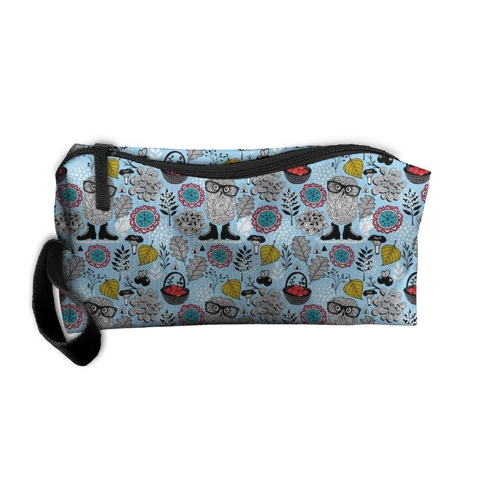 0ff5f75af917 Get Quotations · Blue Owl Eyeglasses Pencil Case Travel Toiletry Bag  Receive Bag Pencil Bag Durable Pouch Zipper Big