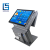 Newest design 15 inch all in one touch screen pc/all in one pos system with dual screen fanless