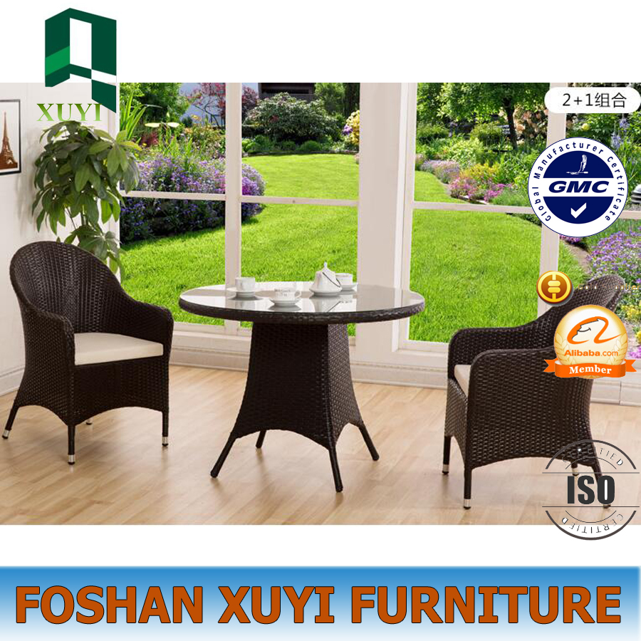 Modern luxury use outdoor wricker dinner chair and table