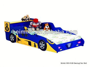 hot sale kids race car bed blue colour for boyspull out bed for kid