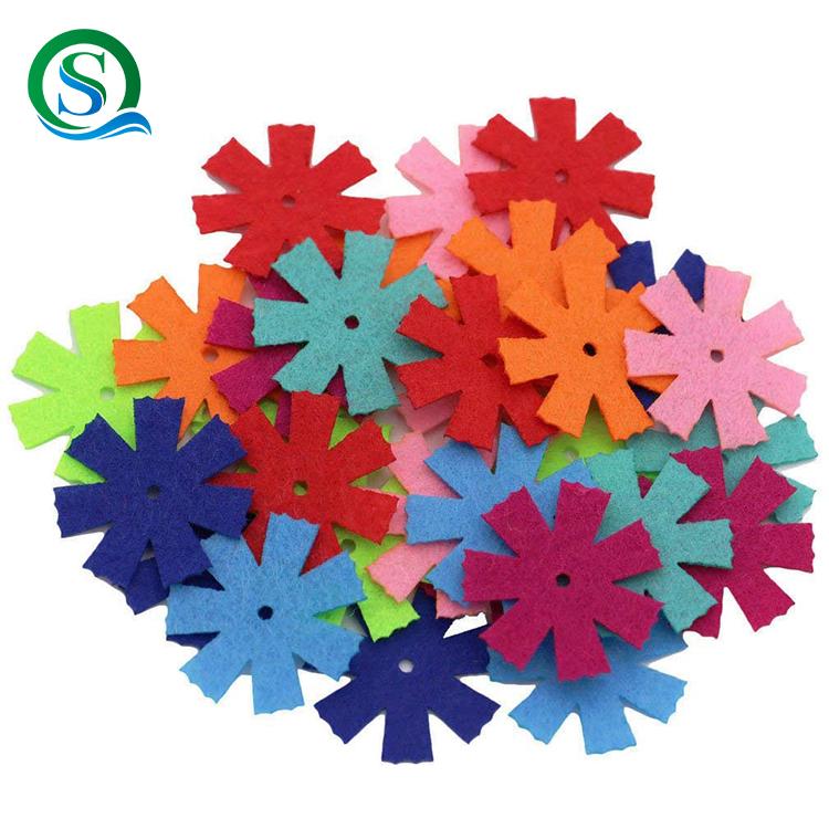 По Заводской Цене лазер вырезать красочные декоративные фетровые цветы, снежинка Используется Вечерние, свадьбы, фестиваля и вечерние