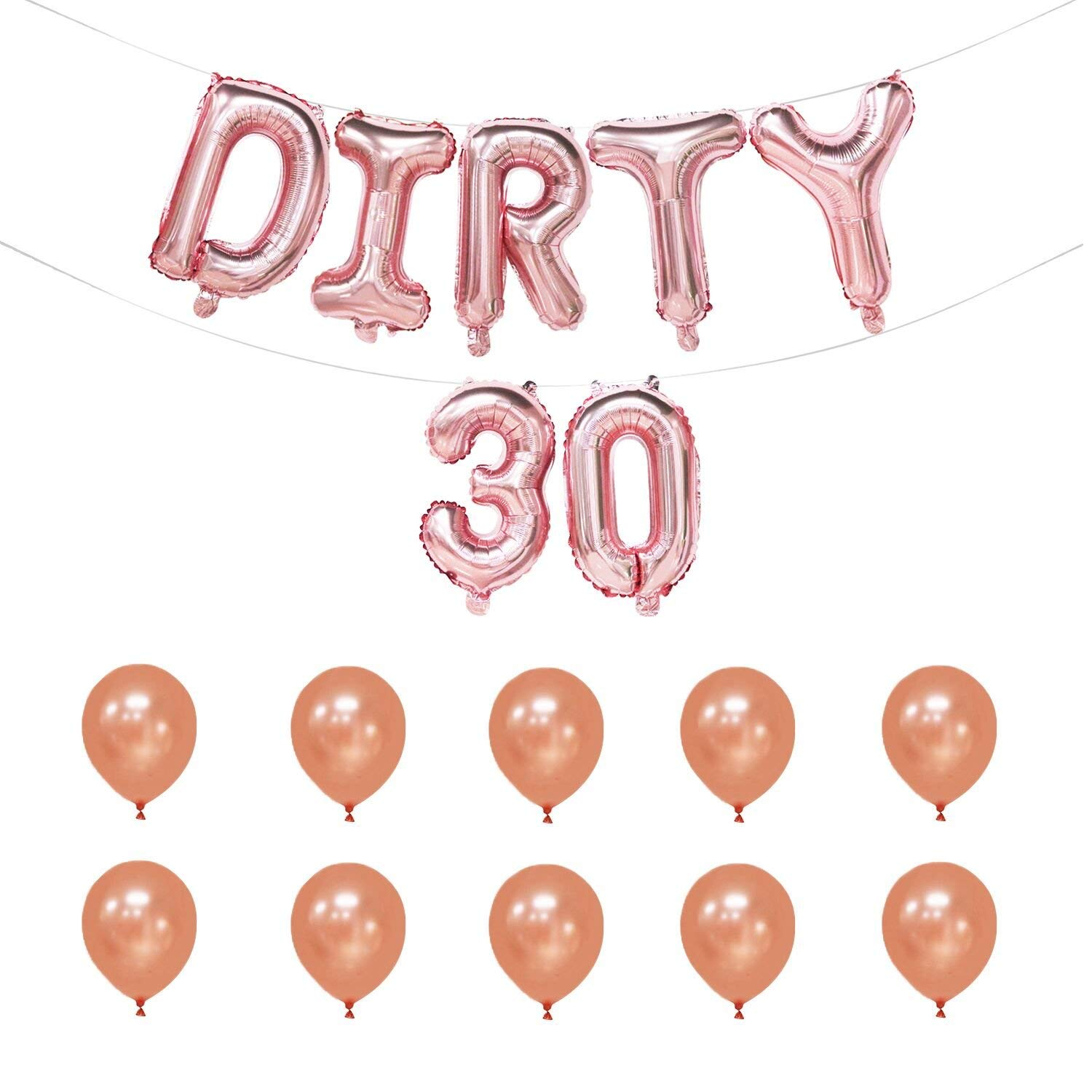 Dirty 30 Balloons 16 Inch