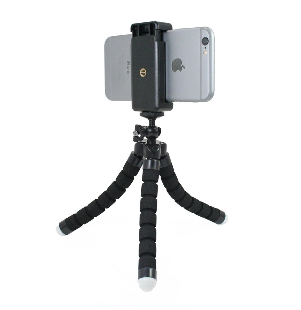 Livestream® Gear - Bendy Tripod with Rotatable Smartphone Clamp. Use for Video Recording, or Live Streaming on Periscope/Meerkat. Operable with Any Phone. Perfect for Travel. (Black)