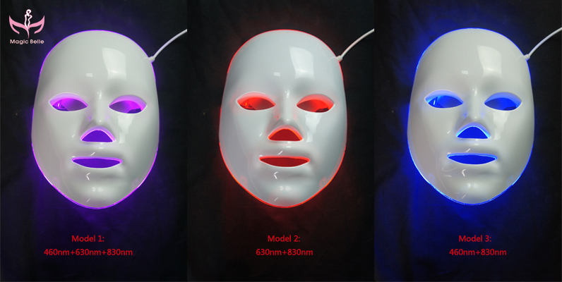 3 Color Blue/ Red/ Purple Professional Led Facial Mask/ Led Mask ...
