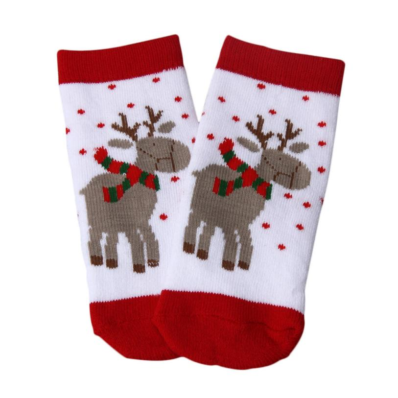 new Cute Bear Deer Newborn Baby Children CottonChristmas Winter Socks For Kids 4 6 years