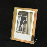Iridescent acrylic photo frame for Instax,4x4,4x6,5x7 or other customized size photo