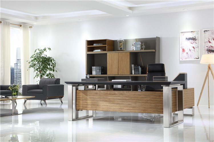 Luxury big and large executive desk w17 modern executive for Grand bureau moderne