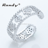 Dubai Engagement Ring Engraved Silver Puzzle Ring Design For Women
