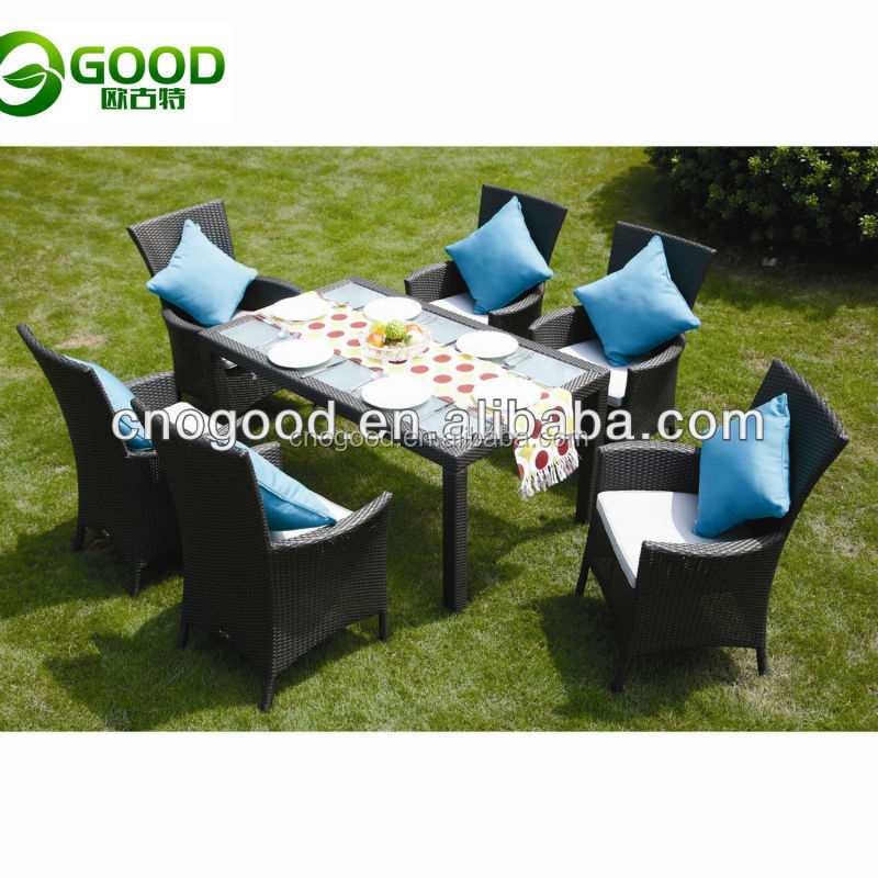 used restaurant plastic rattan woven stainless steel frame furniture outdoor