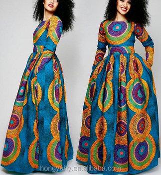 Factory Price Female African Dashiki Long Sleeve O Neck