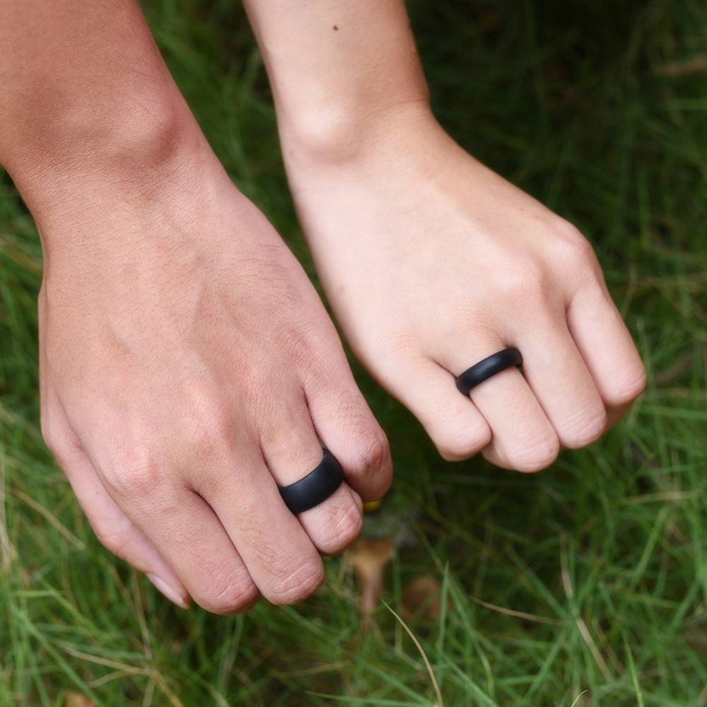 safety silicone rings for men rubber wedding band for