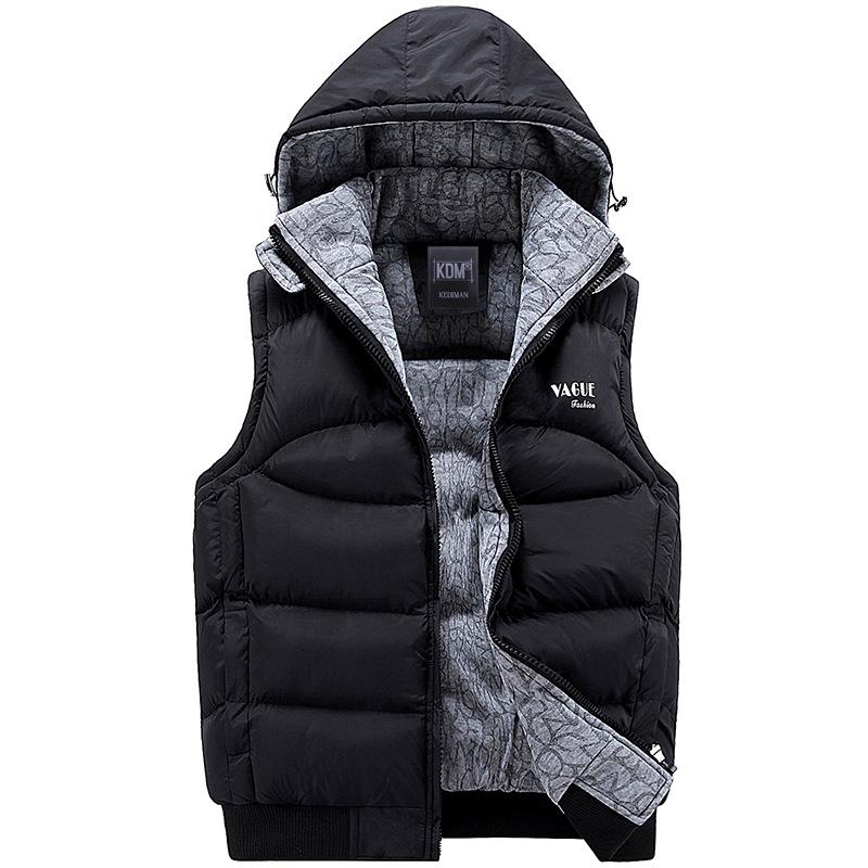 Compra chaqueta con capucha sin mangas online al por mayor
