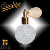 Hot round pineapple cute ball gold refillable atomizer parfum