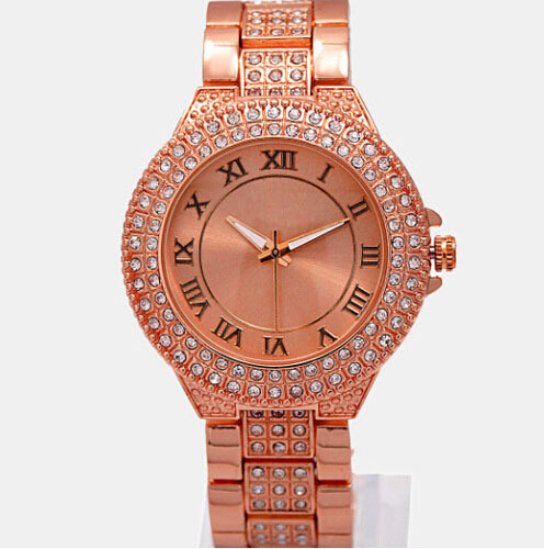 new famous brand women limited edition luxury watch female roman word clock gold alloy relogio