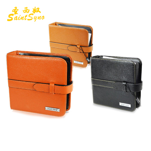 1505 Wholesale leather CD holder with 20pcs clearing PVC CD disc position DVD case