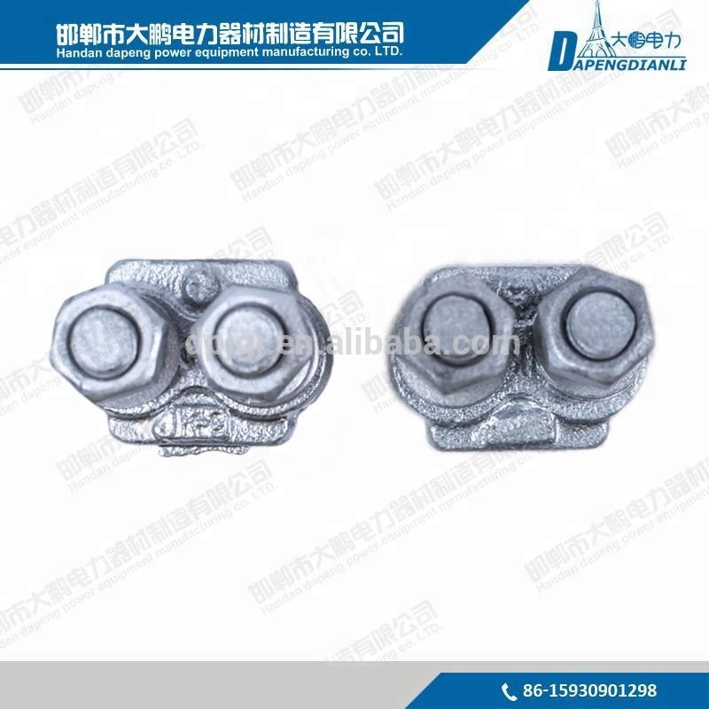 Good Quality Overhead Power Line Accessories Hot-dip galvanized wire rope clips/ guy clips electric cable clamps